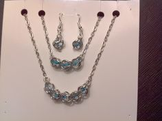 O ring wrapped blue beaded chain mail!  I love this set!