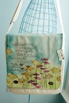 Donna Downey . . . i love pretty bags and this handpainted one is awesome . . .