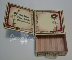 card with a box - template and tutorial - bjl | This would be great for Bible verse cards to memorize.