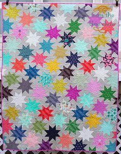 from the blue chair: The Sparkle Punch Quilt Star Quilt Blocks, Star Quilt Patterns, Star Quilts, Scrappy Quilts, Baby Quilts, Quilting Tutorials, Quilting Projects, Quilting Designs, Sewing Projects