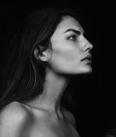 MODELING INSPIRATION | I love the strength in her face but vulnerability in her eyes, also the length in Alyssa Miller's neck. -- @ambivurt