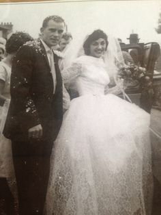 My beautiful & very good looking parents on their Wedding Day- Nearly 54 years ago! Love u both forever. X