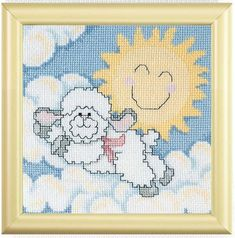 Cross Stitch Patterns to Welcome a New Baby | Lambs to Cross Stitch for Baby