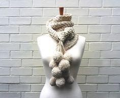 chunky knit pompoms