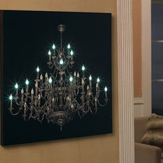 LED chandelier canvas
