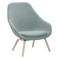 The HAY ABOUT A LOUNGE CHAIR - HIGH AAL93 can be ordered in a range of colours and fabrics