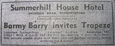 Trapeze ~ Wednesday, April 23rd, 1969 ~ ahhh, those Mini Mini Skirts !