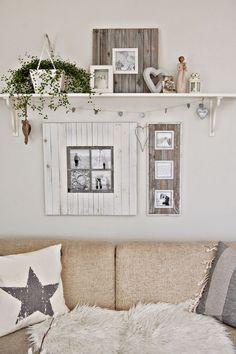Inspiring for Rustic Living Room Wall Decor Design - My Little Think Farmhouse Decor, Home Decor Bedroom, Wall Decor Living Room, Decor, Wall Decor Design, Country Wall Decor, Interior, Living Decor, Room Decor