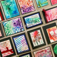 Club Scrap 2015 retreat colorburst card ideas