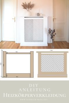 Heizungsverkleidung selber bauen DIY instructions to build a beautiful heating panel to your own mea Diy Interior, Western Style, Diy Upcycled Art, Diy Upcycling, Ideas Paneles, Diy Radiator Cover, Upcycled Furniture Before And After, Decoration Bedroom, Diy Home Decor On A Budget