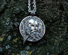 Necklaces - Odin With Ravens Viking Amulet Norse Pendant Necklace