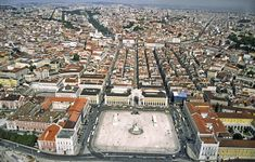 Lisbon downtown, rebuilt after the 1755 great earthquake. The 1755 Lisbon earthquake, also known as the Great Lisbon Earthquake, occurred in the Kingdom of Portugal on Saturday, 1 November 1755, the holiday of All Saints' Day, at around 09:40 local time.[1] In combination with subsequent fires and a tsunami, the earthquake almost totally destroyed Lisbon and adjoining areas.