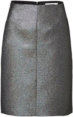Jil Sander Pencil-Skirt im Metallic-Look auf shopstyle.de