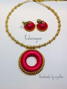 Handmade silk thread jewellery from www.facebook.com/kalainayam