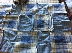 Hi This ismy Rag Quilts It is made out of all recycled material. I buy used denim, cotton bed sheets and men's shirts, to make my quil. Blue Jean Quilts, Diy Blankets, Old Sheets, Quilting 101, Country Quilts, Denim Cotton, Rag Quilt, Men's Shirts, Floor Rugs