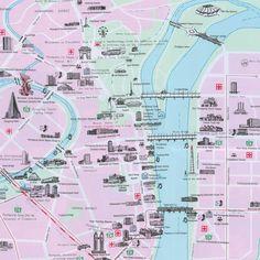 Map of Central Pyongyang North Korea