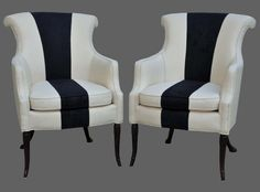 B Vintage Roll Back Chairs by CCDeuxVie on Etsy, $1250.00