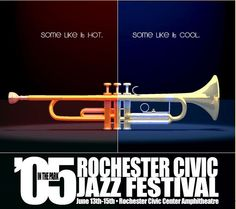 Rochester Civic Jazz Festival Poster, 2005. Trumpet