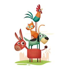 Edgar Rozo on Behance Painting For Kids, Art For Kids, Bremen Musicians, Baby Room Paintings, Basic Drawing, Kids Story Books, Boy Quilts, Preschool Themes, Book Illustration