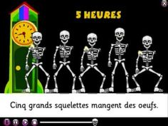 Teaching french for the halloween season or just because it is a really fun song/video with numbers. La chanson des squelettes (avec des paroles)