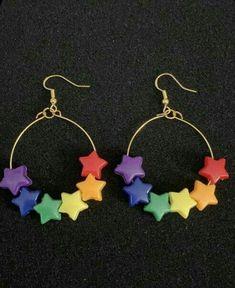 Weird Jewelry, Funky Jewelry, Cute Jewelry, Jewelry Crafts, Handmade Jewelry, Earrings Handmade, Jewelry Art, Funky Earrings, Diy Earrings
