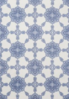MEDALLION PAISLEY, Navy, F988729, Collection Trade Routes from Thibaut
