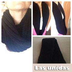 Las bufandas unidas son muy largas porque se usan doble o sencilla.