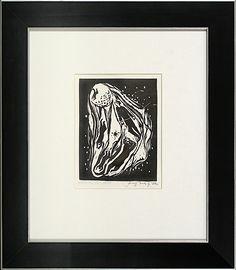 Jerzy Duda Gracz   JUDAICA VI, 1964  drzeworyt, papier   14.8 x 11.3 cm