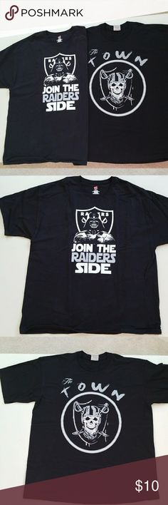 Men's 2 Raiders Shirts Raiders Shirts. Washed only never worn. Shirts Tees - Short Sleeve