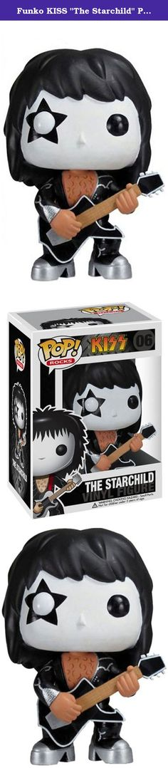 """Funko KISS """"The Starchild"""" Pop Rocks. Each Paul Stanley KISS figure stands approximately 3.75 inches tall. Manufactured by Funko Toys.Brand: FunkoProduct Classification: Toys & Games > Toys > Dolls Playsets & Toy Figures > Action Figures."""