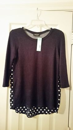 Love this shirt...slouchy fit with polka dots!