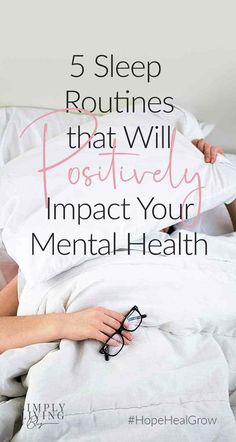 #HopeHealGrow | Addressing your mental health without taking measures to get a good night's sleep could be futile, and attempting to get better #sleep without treating your #mentalhealth will be similarly difficult. #MentalHealthMatters