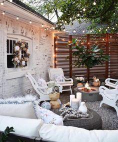 Cozy Patio, Small Backyard Patio, Deck Patio, Patio Table, Rustic Patio, Small Backyard Design, Bed Table, Modern Backyard, Backyard Pergola