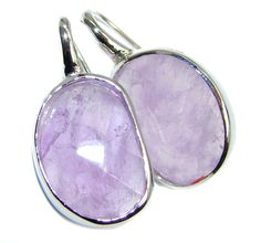 $60.50 Chunky+Perfect+Genuine+faceted+Amethyst+Sterling+Silver+earrings at…