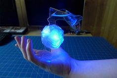 Magic Power cosplay project made of thermoplastic sheets and LED lights.
