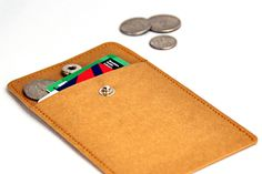 Store credit or and even a few bills and coins. Keep your pockets or bag light and organized. Card Case, Marshmallow, Business Cards, Coins, Paper Crafts, Pockets, Wallet, Store, Bags
