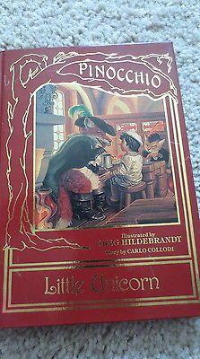 Vintage-Pinocchio-Little-Unicorn-Illustrated-Hardcover-Book