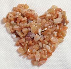 Peach Cream Iridescent Moonstone Chip Nugget Pebble by TUTreasures