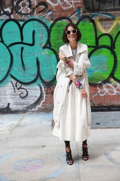 summer trench & culottes. Leandra in NYC. #LeandraMedine #ManRepeller