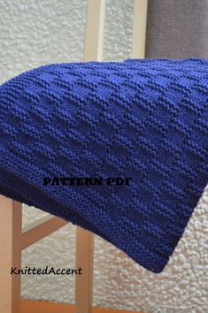 Easy Blanket PATTERN, written instructions with diagram.Baby Blanket Knitting Pattern in English, Baby Blanket PattI love the border on this blanket! Free Baby Blanket Patterns, Baby Knitting Patterns, Baby Patterns, Stitch Patterns, Knitted Afghans, Knitted Baby Blankets, Pink Baby Blanket, Easy Knitting, Double Knitting