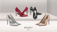 Magrit. MILA: Precioso salones de punta fina que se caracterizan por su sencillez y elegancia. Con un tacón de 10 cm que estiliza la silueta femenina. Imprescindibles en tu armario  ------------------------------------------------------------------------------------------------------MILA: Beautiful pointed-toe pumps characterized for their simplicity and elegance. With 10 cm heel height to shape the female silhouette. Essentials in your closet