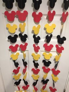 Black Red and Yellow Mouse Style Garland Strand Mickey