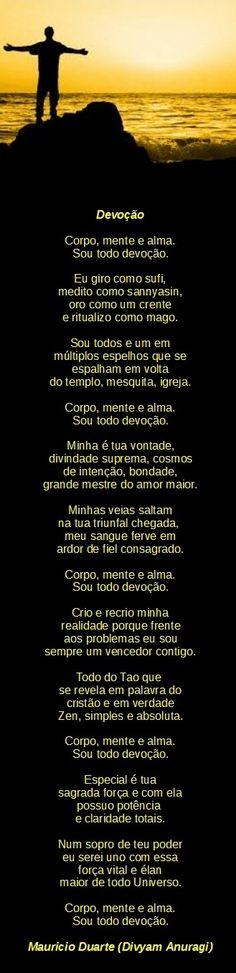 Poema: Devoção, de minha autoria Mauricio Duarte.