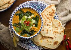 A legfinomabb indiai - Marieclaire. Dhal, Palak Paneer, Hummus, Curry, Marie Claire, Ethnic Recipes, Food, Cilantro, Homemade Hummus