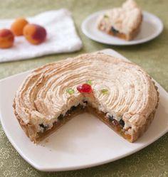 Nougat de Tours : tarte meringuée aux abricots et fruits confits - les meilleures recettes de cuisine d'Ôdélices