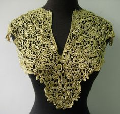 SEWON MOTIF GOLD PUNK STYLE STUD SPIKE NECKLINE APPLIQUE WITH DIAMANTES