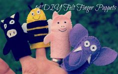 Small Things: 14 Felt Finger Puppets - loving these!  Awesome tute!