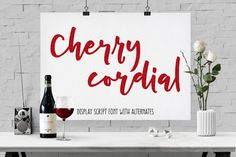 Cherry Cordial: display script font by missy.meyer on @creativemarket. Price $8 #scriptfonts #handwrittenfonts