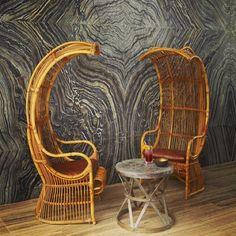 these walls & bizarro chairs