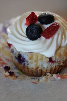 Red White and Blue Cheesecake Cupcakes